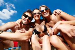 Groep vrienden Stock Foto's