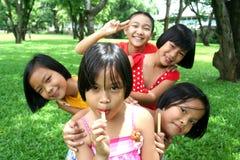 Groep vrienden Stock Foto
