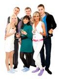 Groep vrienden bij een partij Royalty-vrije Stock Foto
