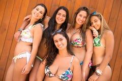 Groep vrienden bij het strand Royalty-vrije Stock Afbeelding