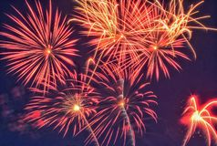 Groep vuurwerk Stock Foto's