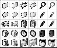 groep-waakzame Pictogrammen Stock Fotografie