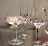 Groep wijnglazen Stock Foto