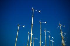 Groep windturbogenerator Stock Afbeeldingen
