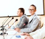 Groep zakenlieden bij de presentatie Stock Foto