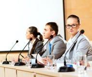 Groep zakenlieden bij de presentatie Royalty-vrije Stock Afbeelding