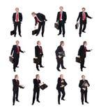 Groep Zakenlieden met een aktentas Stock Foto's