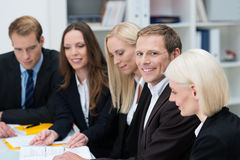 Groep zakenlui in een vergadering Royalty-vrije Stock Foto
