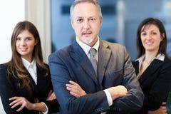 Groep zakenlui in het bureau Stock Foto
