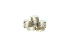 Groep zilveren muntstuk Royalty-vrije Stock Foto's