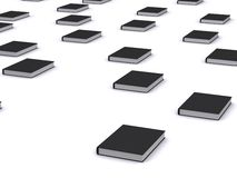 Groep zwarte boeken Royalty-vrije Stock Fotografie