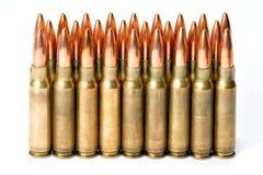 Groepeer verscheidene geweerpatronen met bezinningen Stock Afbeelding