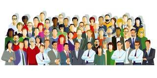 Groeps mensen illustratie royalty-vrije illustratie