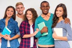 Groeps mensen studenten stock afbeeldingen
