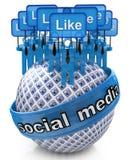 Groeps sociale media netwerken Stock Afbeeldingen