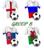 Groepsb Europese Voetbal 2016 Royalty-vrije Stock Afbeeldingen