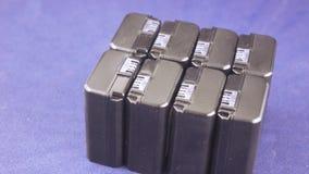 Groepsbatterij voor camcorders stock videobeelden