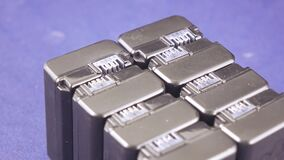 Groepsbatterij voor camcorders stock footage