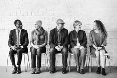 Groepsbespreking Team Talking Concept Royalty-vrije Stock Afbeelding