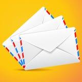 Groepsenveloppen, reeks enveloppen Royalty-vrije Stock Afbeeldingen