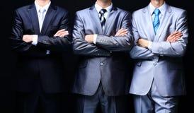 Groepsportret van een professioneel commercieel team stock foto