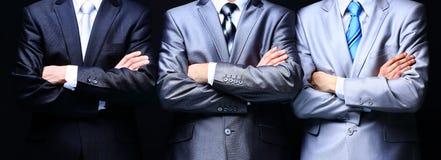 Groepsportret van professionele zaken teamon Stock Foto's