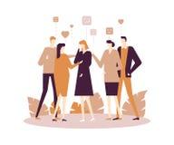 Groepstherapie - de moderne vlakke illustratie van de ontwerpstijl royalty-vrije illustratie