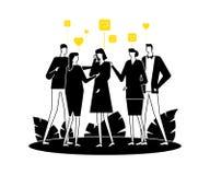 Groepstherapie - de moderne vlakke illustratie van de ontwerpstijl stock illustratie