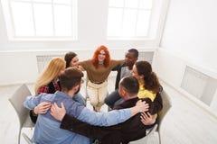 Groepstherapie, de vergadering van de psychologiesteun royalty-vrije stock fotografie