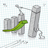 Groepswerk stock illustratie