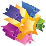 Groepswerk 3D Starburst Stock Fotografie