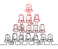 Groepswerk & leiding stock illustratie