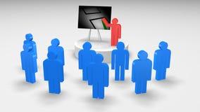 Groepswerk in Bedrijfsconcept royalty-vrije illustratie