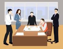 Groepswerk bedrijfskarakters Stock Afbeeldingen
