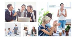 Groepswerk commerciële vergaderingscollage stock fotografie