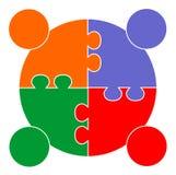 Groepswerk communautaire verbinding Stock Afbeelding