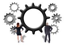 Groepswerk en bijdrageconcept Stock Foto