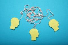 Groepswerk en brainstorming Succesidee, commerci?le vergadering stock foto's