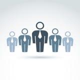 Groepswerk en commercieel team en vriendschapspictogram Stock Afbeeldingen