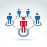 Groepswerk en commercieel team en vriendschapspictogram Royalty-vrije Stock Afbeelding