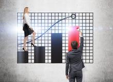 Groepswerk en de financiële groei Stock Foto's