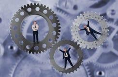 Groepswerk en het concept van de teaminspanning Stock Fotografie