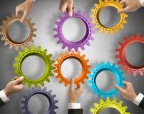 Groepswerk en integratieconcept stock foto