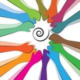 Groepswerk en samenhorigheid Stock Foto's