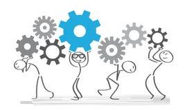 Groepswerk en samenwerking vector illustratie