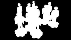 groepswerk Groep gestileerde mensentribune op toestellen royalty-vrije illustratie
