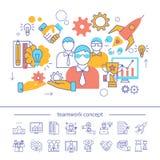 Groepswerk Lineair Concept vector illustratie