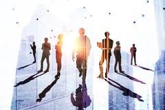 Groepswerk, succes en werkgelegenheidsconcept royalty-vrije stock foto's