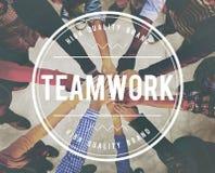 Groepswerk Team Building Cooperation Relationship Concept royalty-vrije stock foto's