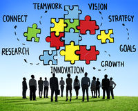 Groepswerk Team Connection Strategy Partnership Support royalty-vrije stock fotografie